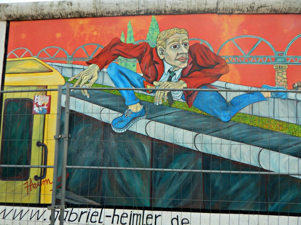 the 'Wall Jumper' by Gabriel Heimler –was painted on the wall between East Berlin and West Berlin, and became well known as an unofficial symbol for Berlin